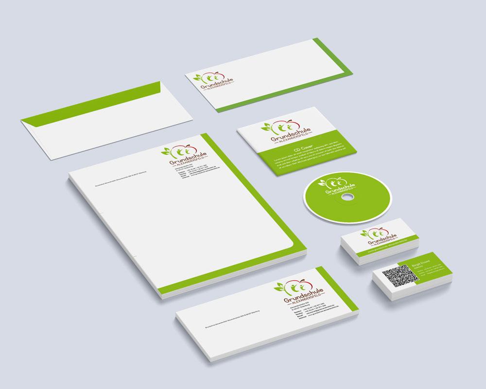 Corporate Design Entwurf Grundschule Alexandersfeld